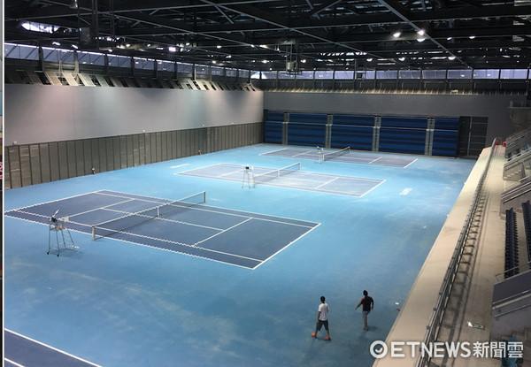 ▲台北網球中心室內球場。(圖/記者林育正攝)