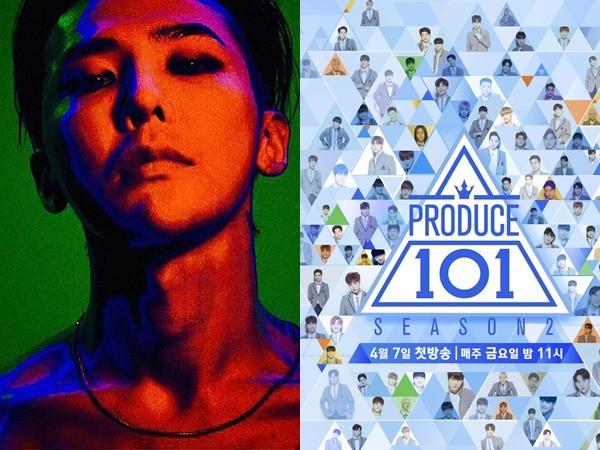 ▲Melon周榜單GD空降第二,《Produce 101》狂升50名。(圖/翻攝自YG-LIFE、Produce 101臉書)