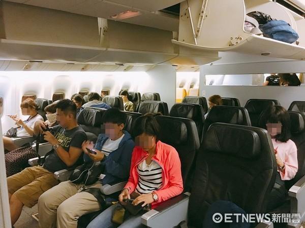 酷鳥航空商務艙,旅客,客艙,飛機座椅,機艙內。(圖/記者蔡玟君攝)