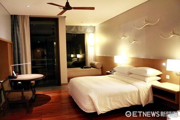 飯店客房,飯店房間,旅館客房,旅館房間。(圖/記者蔡玟君攝)