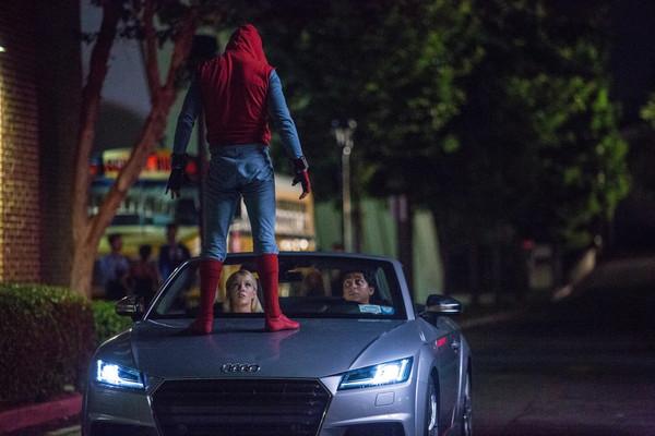 蜘蛛人這次改開車?全新奧迪A8將於電影《返校日》中現身(圖/翻攝自Sony Pictures)