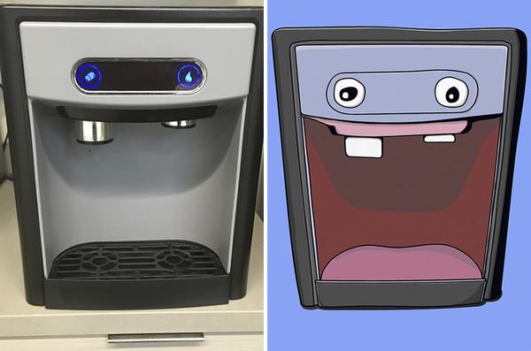 一直看見「臉」沒人相信 空想錯視患者:我把日常畫給你們看。(圖/取自BoredPanda)