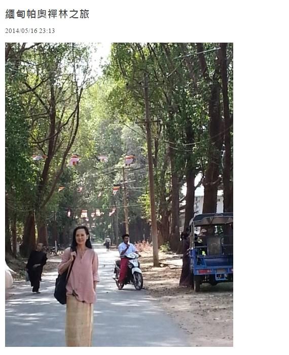 ▲甄秀珍演紅《流星花園》中的道明寺媽媽,15年後已是修佛人。(圖/翻攝自YouTube、蔡玉真臉書)