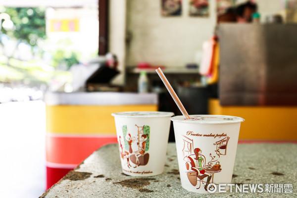 美而美,早餐店,飲料,冰紅茶,冰奶茶(圖/記者周宸亘攝)