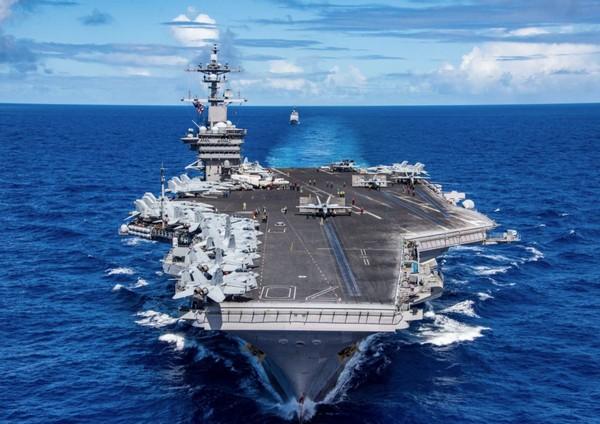 ▲▼卡爾文森號航空母艦。(圖/翻攝自USS Carl Vinson (CVN 70)粉絲專頁)