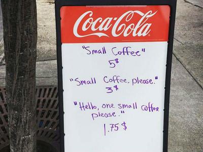 受夠沒禮貌的客人!這間咖啡店只要說「哈囉」就便宜100塊