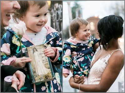 妳是公主嗎?新娘拍婚紗被小女孩撞見,暖心舉動讓她融化