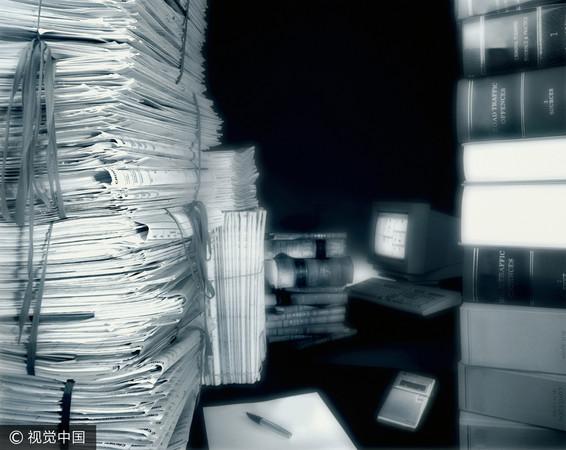▲文件,卷宗,資料,電腦。(圖/視覺中國CFP)