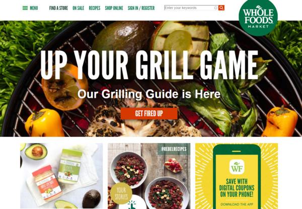 ▲▼亞馬遜宣布斥資137億美元收購高檔有機雜貨連鎖業者「全食超市」。(圖/翻攝自全食超市官網)