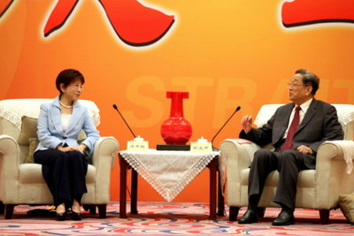 洪秀柱見俞正聲:兩岸應簽和平協議