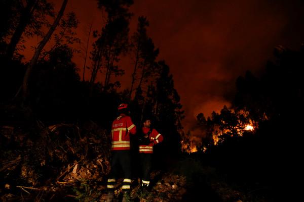 ▲▼葡萄牙森林大火。(圖/路透社)