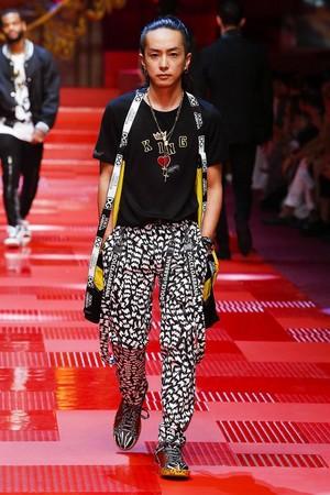 ▲米蘭男裝周--王俊凱為DOLCE&GABBANA走秀。(圖/翻攝DG臉書)