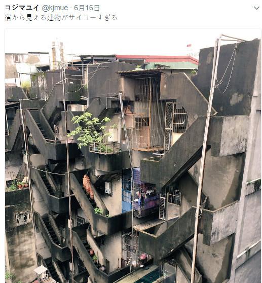 台街道落後像柬埔寨?日藝術家來台驚嘆:美到不想回家(翻攝自推特@kjmue)