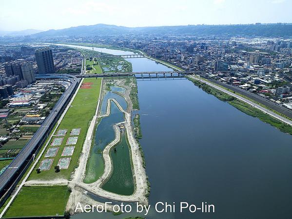 ▲大漢溪濕地工程空拍。(圖/Chi Po-lin/flicker)(https://flic.kr/p/6k3yb5)