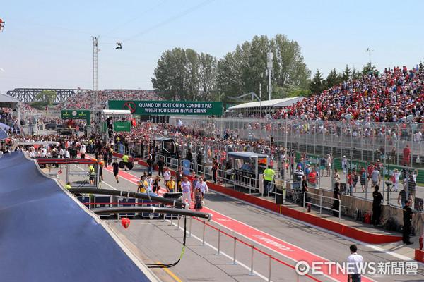▲「看賽車」還能這樣玩!F1加拿大站現場直擊。(圖/記者張慶輝攝)