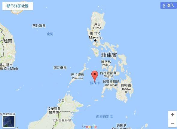 ▲▼蘇祿海(Sulu Sea)的位置(圖/翻攝google地圖)