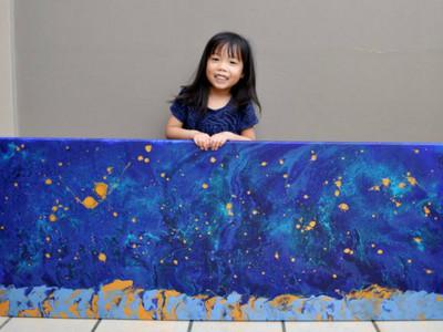 宛如梵谷轉世!華裔女童驚人天分爆發,才5歲已賣百幅畫
