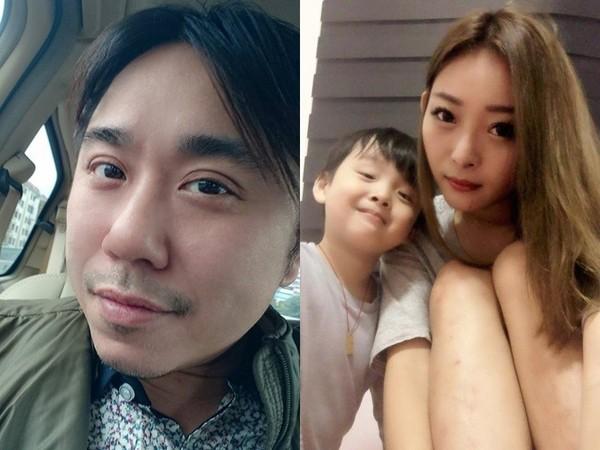 小彬彬和老婆小君、兒子萌萌彬。(圖/翻攝自臉書)