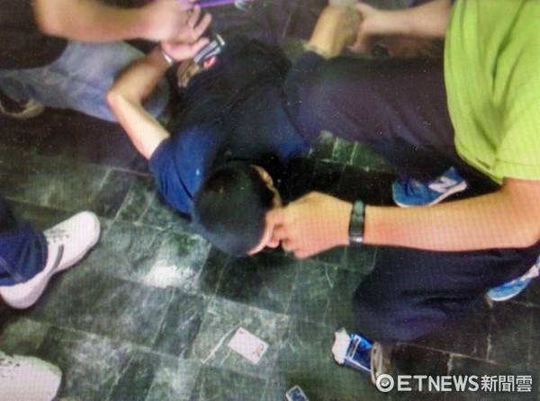 ▲台南市警六分局逮捕詹嫌。      。(圖/記者林悅翻攝)
