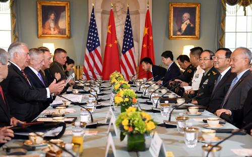 ▲▼美國與中國21日在華府舉行首輪「外交及安全對話」,談論朝鮮核武、南海主權問題。(圖/中國外交部官網)