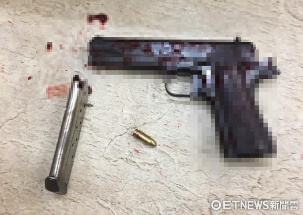 ▲▼兇槍曝光!3死槍擊案共開12槍1發卡彈,水溝旁自戕。(圖/記者柳名耕翻攝)