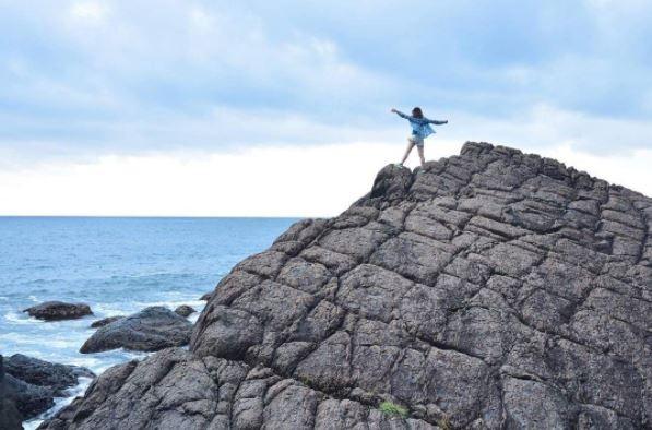 北關海潮公園的單面山。(圖/IG@_lltw提供)