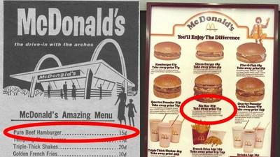 77年前麥當勞「第一張菜單」曝光 原來大麥克指數沒唬爛