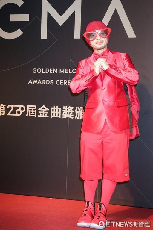 第28屆流行音樂金曲獎星光大道黃明志。(圖/攝影中心攝)