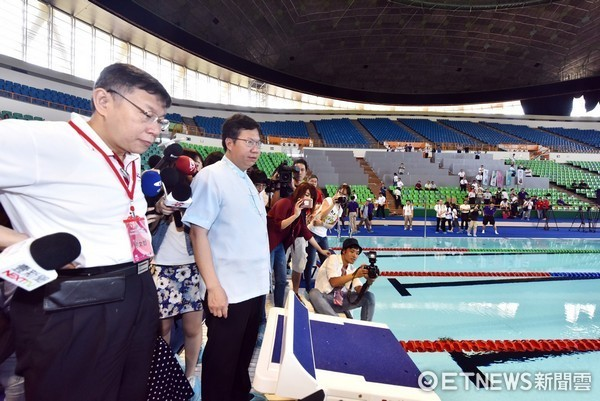 ▲2017世大運全國首座組裝式游泳池,世大運結束後將留在桃園。(圖/桃園市政府提供)
