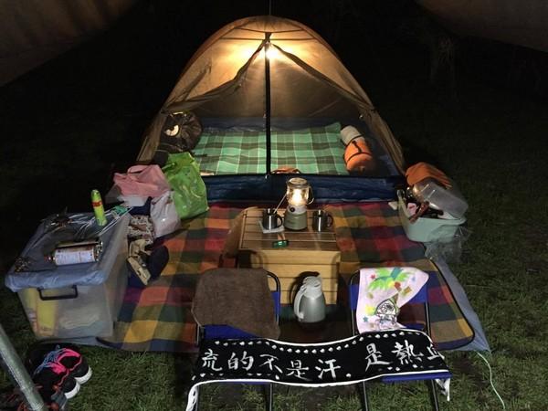▲露營、野營。(圖/網友Ryanlu授權提供)