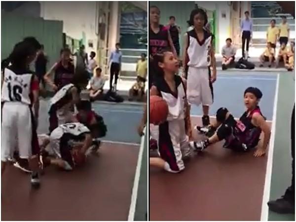 陶晶瑩女兒荳荳打籃球。(圖/翻攝自陶晶瑩臉書)