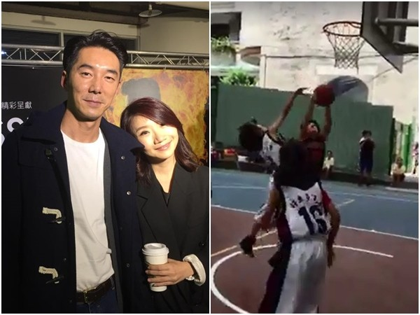 陶晶瑩女兒荳荳打籃球。(圖/翻攝自陶晶瑩、李李仁臉書)