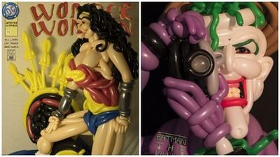 超魔性神力女超人 氣球摺出來的
