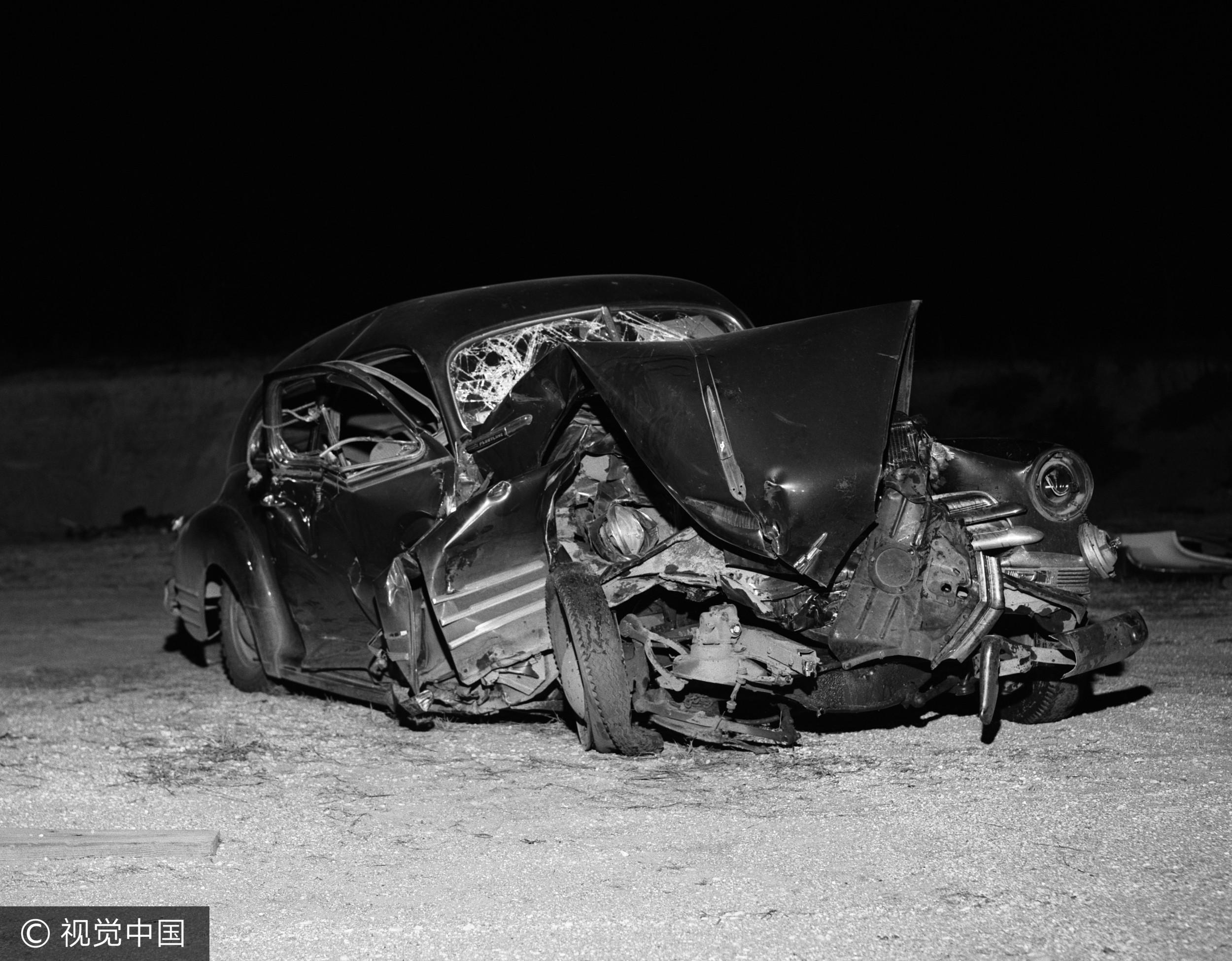 ▲車禍,報廢車,事故。(圖/視覺中國CFP)