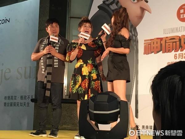 ▲▼《神偷奶爸3》首映會,胡瓜、王彩樺。(圖/記者林映妤攝)