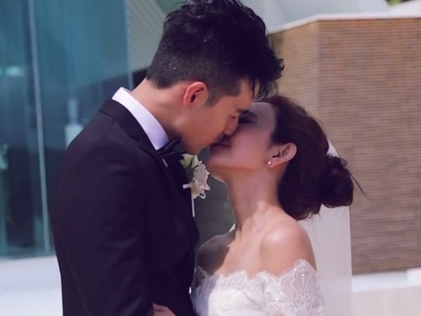 ▲愛紗和周洺甫的沖繩婚禮影片曝光。(圖/翻攝自愛紗臉書)