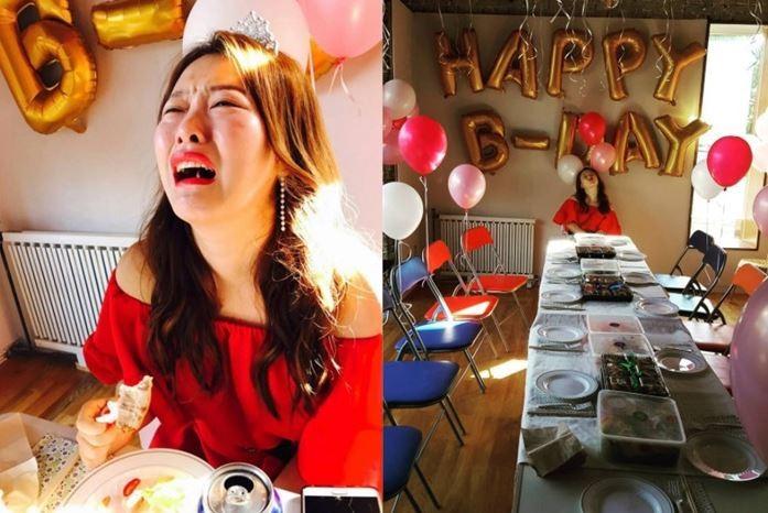 韓女諧星37歲生日,結果朋友都沒來..邊緣照心酸又喜感