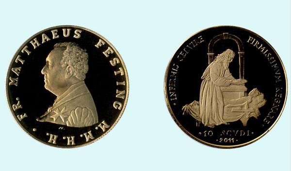 ▲▼馬爾他騎士團(The Sovereign Military Order of Malta)硬幣。(圖/翻攝自Order of Malta官網)