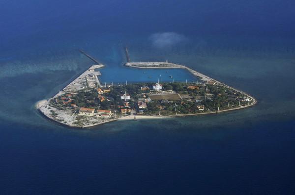 ▲▼南沙群島南子島(Southwest Cay)。(圖/達志影像/美聯社)