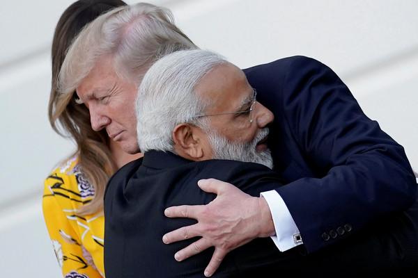 ▲▼印度總理莫迪(Narendra Modi)26日與美國總統川普舉行會談。(圖/路透社)