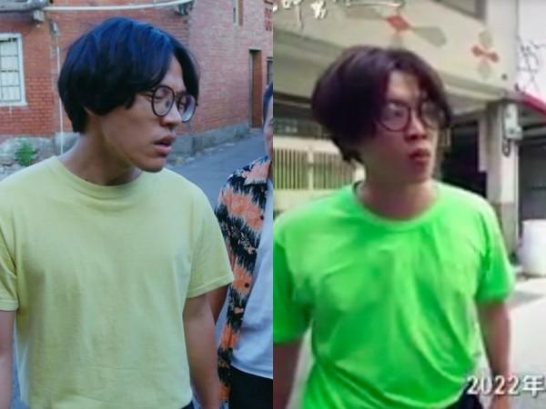 錢俞安模仿盧廣仲被說像兄弟。(圖/取自植劇場臉書、翻攝全民大悶鍋臉書)