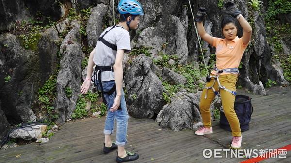 ▲▼Club Med桂林度假村體驗攀岩。(圖/記者李依琳攝)