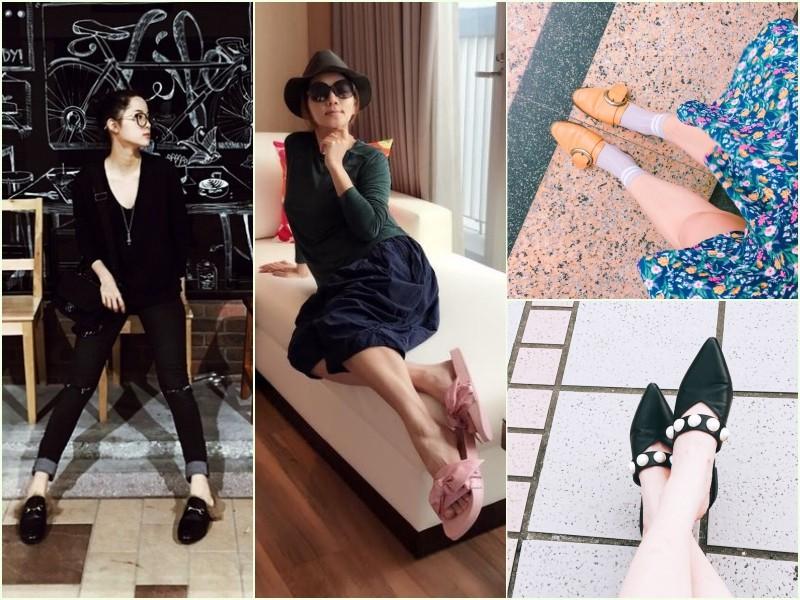 ▲穆勒鞋。(圖/翻攝歐陽娜娜微博、Ella粉絲專頁、記者李薇、張妤瑄攝)