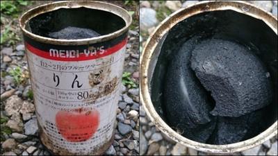 罐頭放25年會怎樣? 打開看見一坨「蘋果木炭」