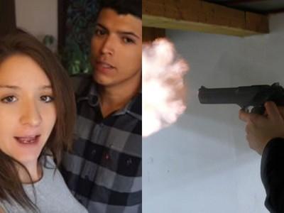 想紅!情侶實拍「書本擋沙漠之鷹」 槍響後…男友胸膛被轟穿