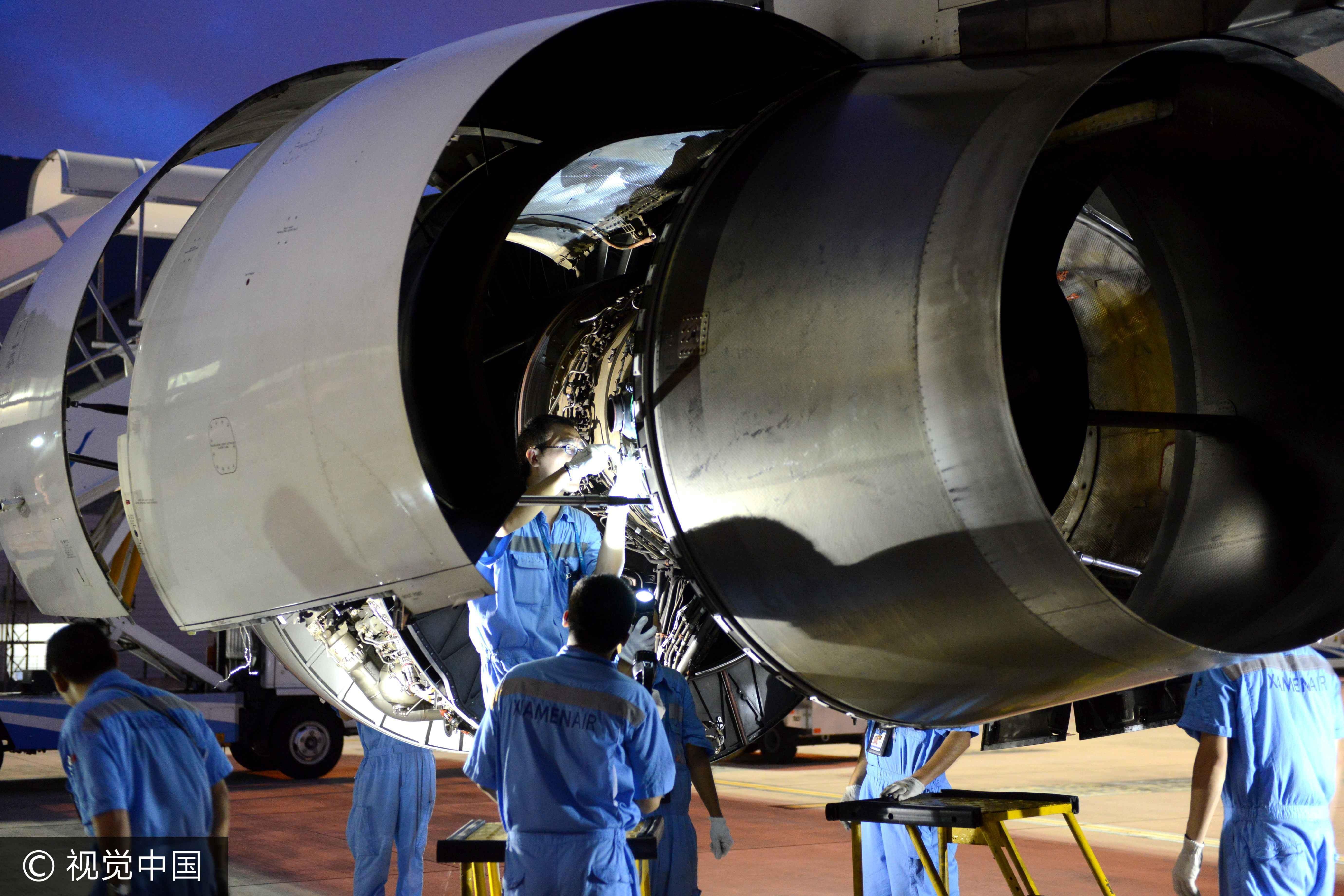 飛機,飛安,維修員,飛機維修員,維修工程師,飛機維修工程師(圖/視覺中國)