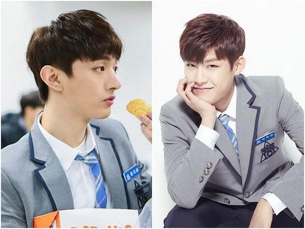 《Produce101》尹智聖、朴佑鎮。(圖/翻攝自《Produce101》臉書、官網)