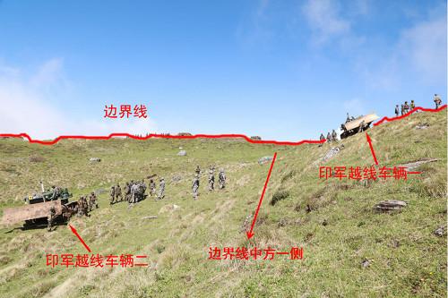 ▲▼中方公布照片,指出印軍越過邊界進入中國領土。(圖/翻攝自中國大陸外交部官網)