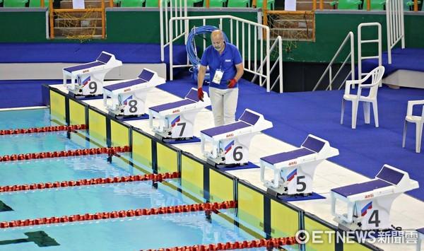 ▲世大運游泳測試賽,王俊人。(圖/記者張克銘攝)