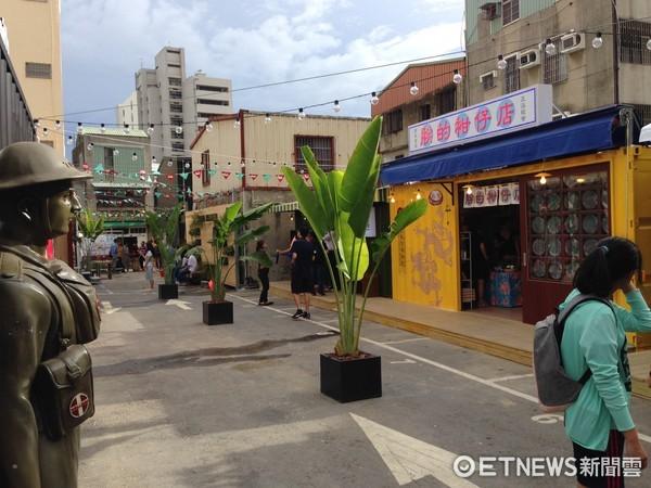 ▲台南正興街貨櫃市集。(圖/記者蔡惠如攝)